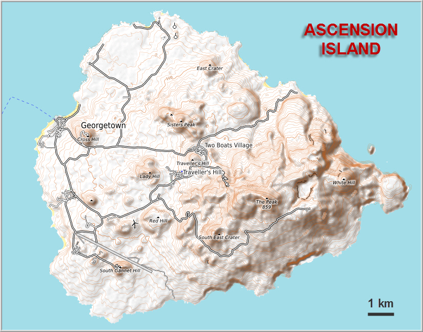 ASCENSION ISLAND Spectacular Mountains